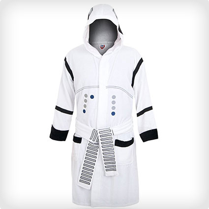 Men's Stormtrooper Hooded Bathrobe Costume