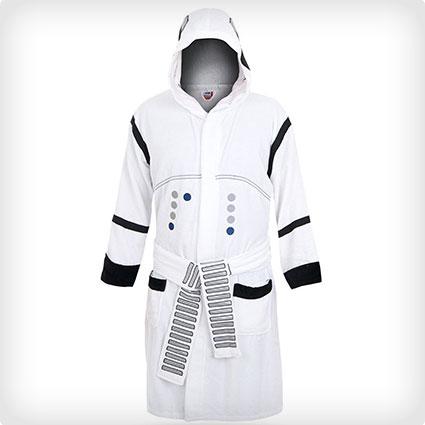 Men's Stormtrooper Hooded Bathrobe Costume