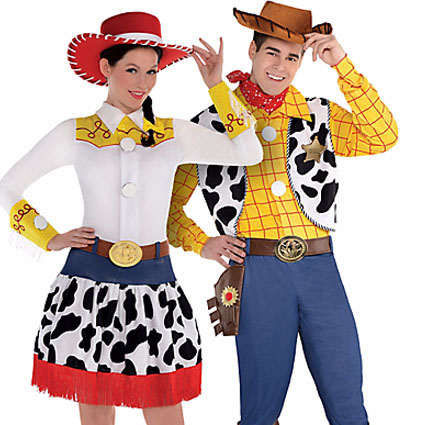 Adult Jessie and Woody Couples Costumes -- Toy Story