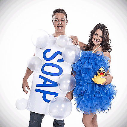 Adult Soap and Loofah Couples Costume