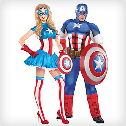 American Dream and Captain America Costumes