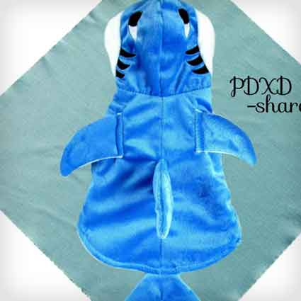 Blue Shark Pet Costume