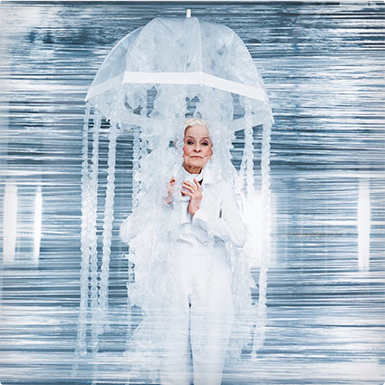 Bubble Wrap Jellyfish Costume