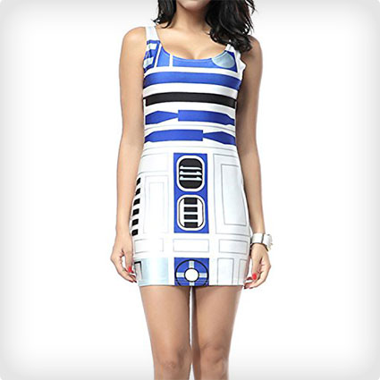 C3PO Low-Cut Dress