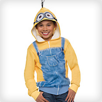 Child Minion Zip-Up Hoodie