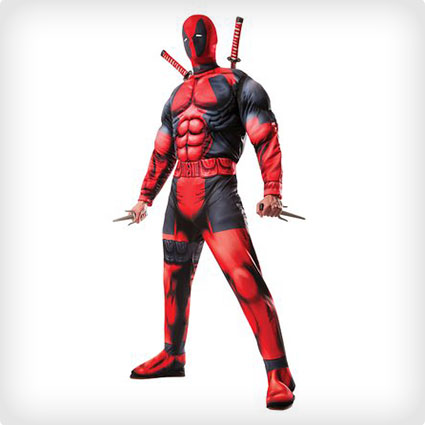 Classic Muscle Chest Deadpool Costume