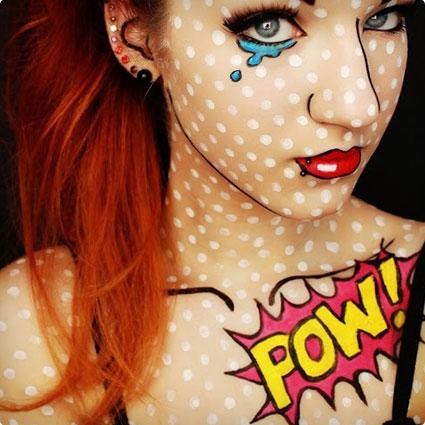 Comic Book Girl Costume and Makeup