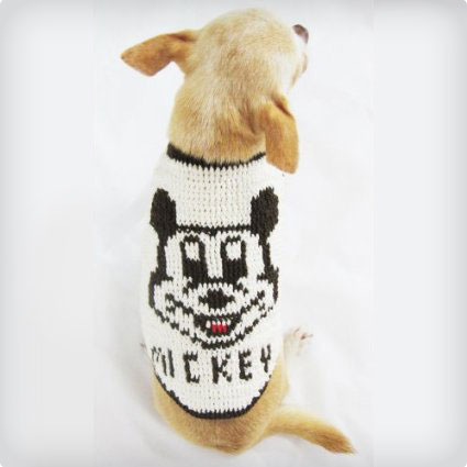 Crochet Mickey Mouse Dog Costume