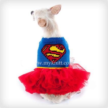 Crochet Superman Costume for Pets