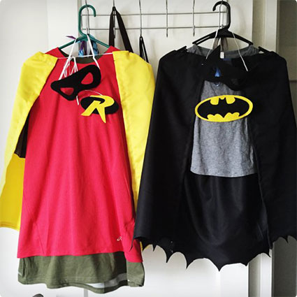 DIY Batman and Robin Costumes