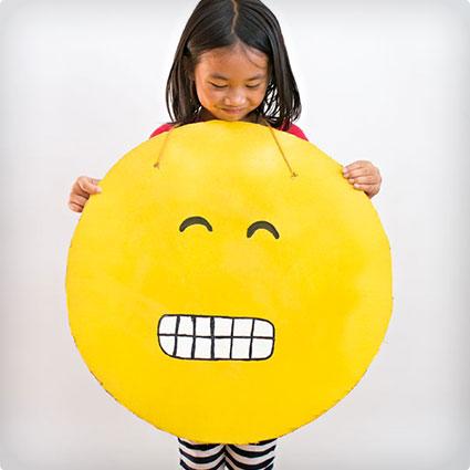 DIY Cardboard Emoji Costume