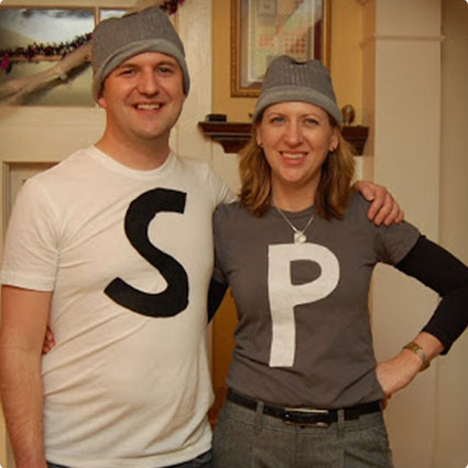 DIY Salt and Pepper Couples Costume