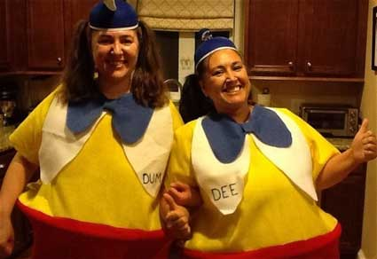 DIY Tweedledee and Tweedledum Costumes
