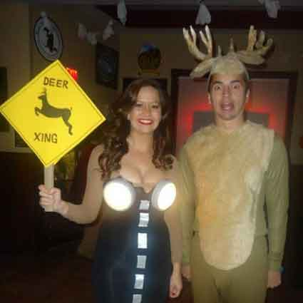 Deer in Headlights Couples Costume