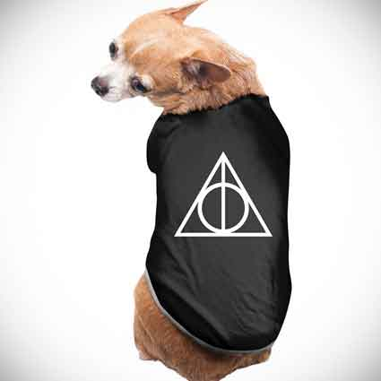 Dogs Deathly Hallows Logo Clothing