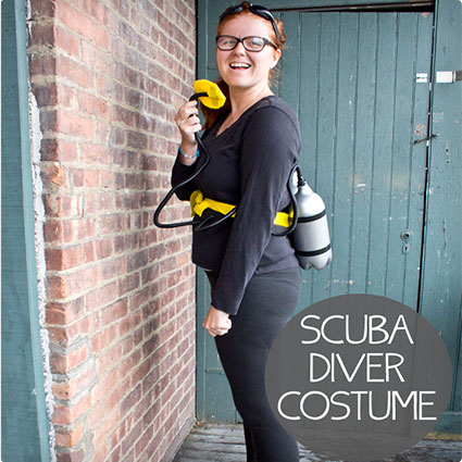 Easy DIY Scuba Diver Costume