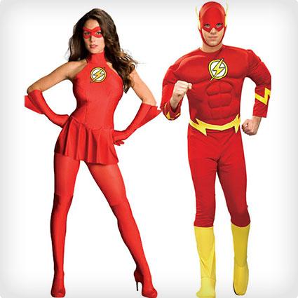 Flash Couples Costumes  sc 1 st  Costume Yeti & 45 Kickass Superhero Couples Costumes | Costume Yeti