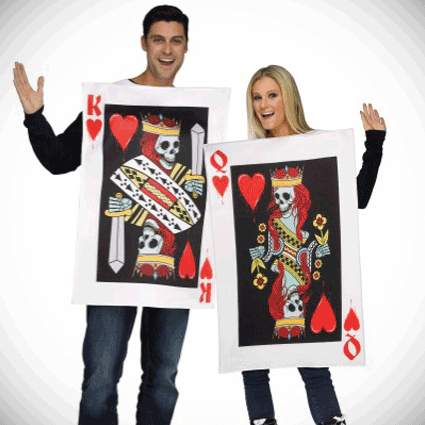 Fun World -- King and Queen of Hearts Adult Costumes
