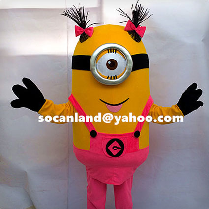 Girls Minion Toddlers Costume
