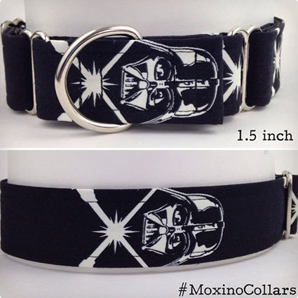 Glow in the Dark Darth Vader Dog Collar