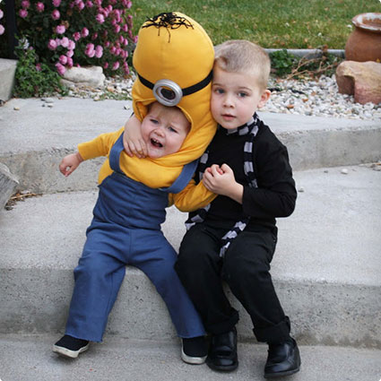 Gru and Minion Halloween Costumes