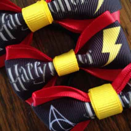 Gryffindor Lightning Bolt Dog Collar Accessory