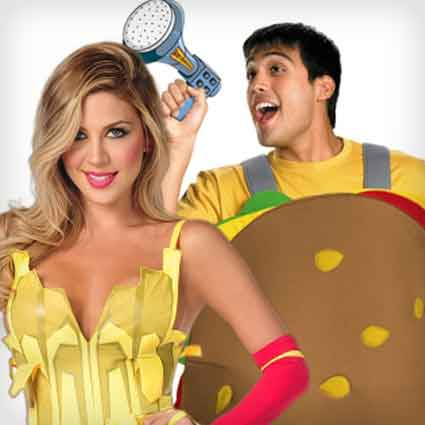 Hamburger and Fries Couples Costumes