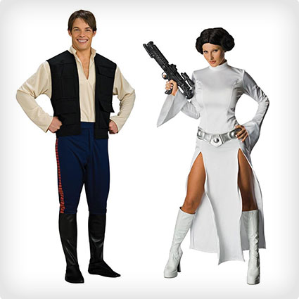 Han Solo and Leia Costume Set