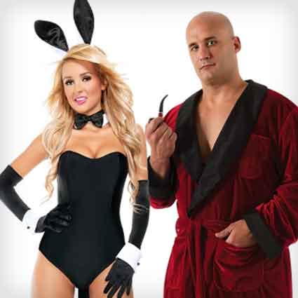 Hefner and Bunny Costumes  sc 1 st  Costume Yeti & 30 Funny Halloween Couples Costumes That Will Make You ROFL