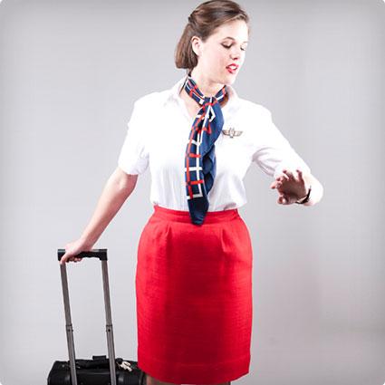Homemade Flight Attendant Costume