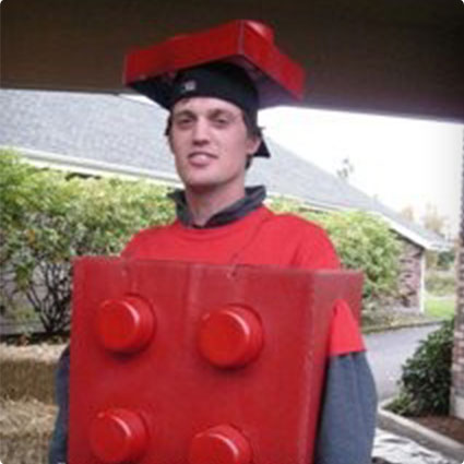 Homemade Lego Man Costume
