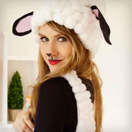Homemade Sheep Costume