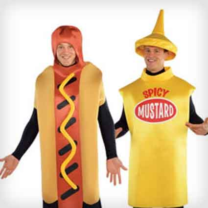 Hot Dog and Spicy Mustard Costumes
