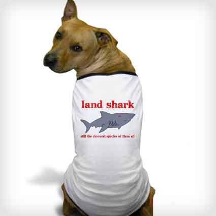 Land Shark Dog Shirt