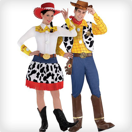 Jessie and Woody Couples Costumes  sc 1 st  Costume Yeti : famous 90s couples costumes  - Germanpascual.Com