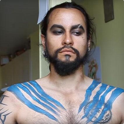 Khal Drogo Makeup Tutorial