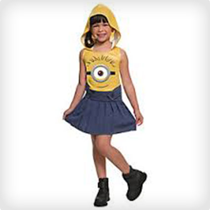 Kids Hooded Minion Costume