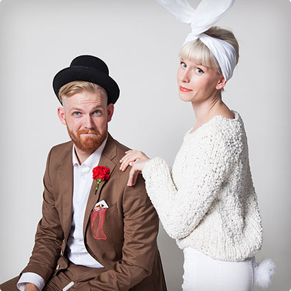 Magician and Rabbit Couples Costumes