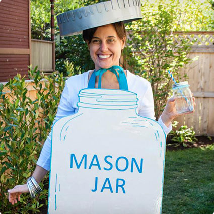 Mason Jar Halloween Costume