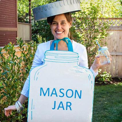 Mason Jar Halloween Costume