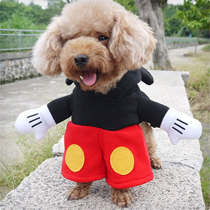 Mickey Mouse Dog Clothes Costume