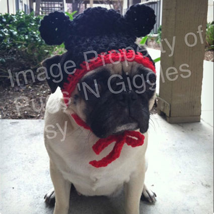 Mickey Mouse Dog Hat