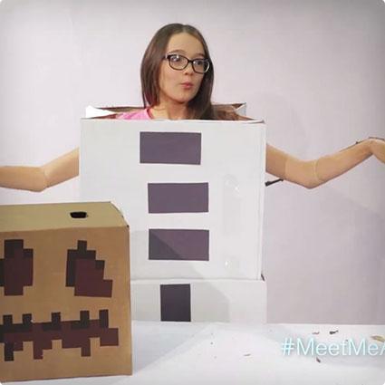 Minecraft Snow Golem Costume