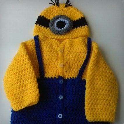 Minion Sweater and Hat Costume Set