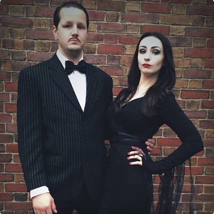 Morticia and Gomez Addams Costumes