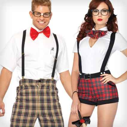 Nerdy High School Couple Costumes