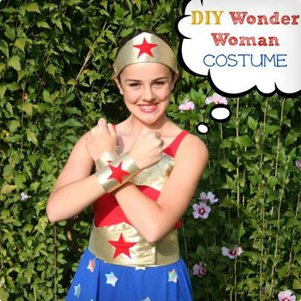 No-Sew Wonder Woman Costume