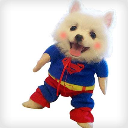 Pet Puppy Superman Costume