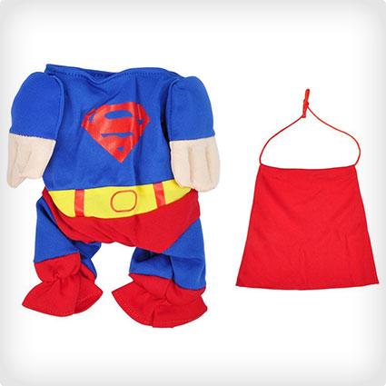 Pet Superhero Costume Superman Clothing