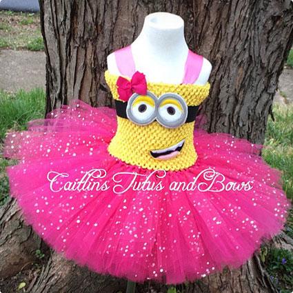 Pink Minion Tutu Dress